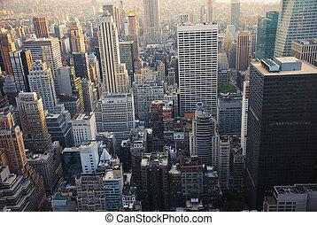 NEW YORK CITY - New York City manhattan skyscrapers view...