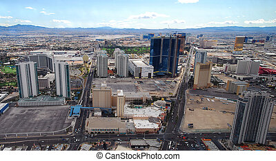 Luxury hotels in Las Vegas Strip panorama