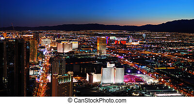 Las Vegas panorama - Las Vegas City skyline panorama night...