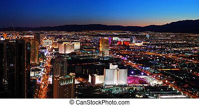 Las Vegas panorama - Las Vegas City skyline panorama night...