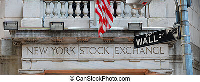 New York City Wall Street and Stock Exchange