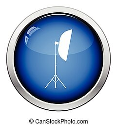 Icon of softbox light. Glossy button design. Vector...