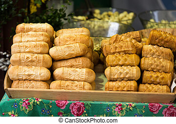 polish traditional smoked cheese made of salted sheep milk...