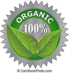 orgánico, producto, etiqueta