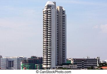 Skyscraper in city