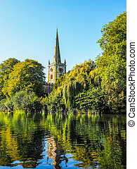 Holy Trinity church in Stratford upon Avon HDR - High...