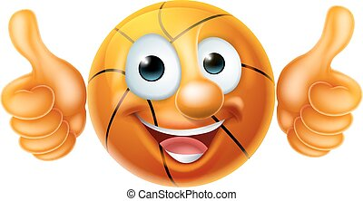 Basketball Ball Man Cartoon Character
