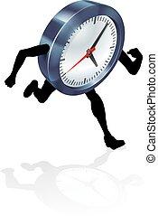 Running Clock Concept