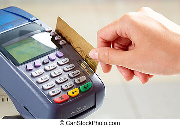 Payment - Close-up of moment of payment by credit card