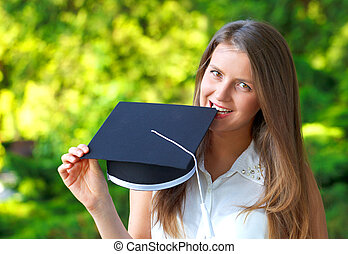 Happy graduating student - Photo of a gorgeous happy young...