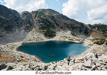 Rila mountain in Bulgaria - Rila mountain lake in Bulgaria