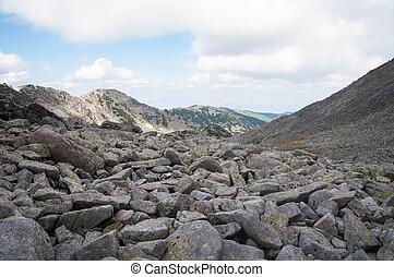 Rila mountain in Bulgaria - Rila mountain moraines in...