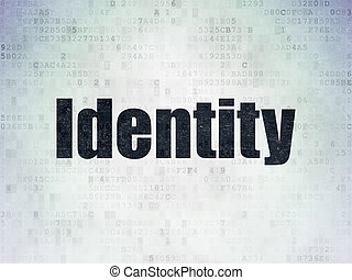 Security concept: Identity on Digital Data Paper background