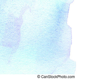 Bright watercolor stain with water colour paint stroke Water...