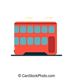 Chinese Tramway Simplified Icon - Chinese Tramway Flat...