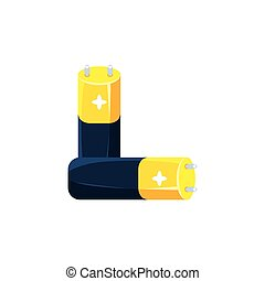 Pair Of Batteries Simplified Icon