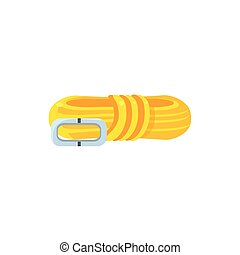 Folded Rope And Clip Simplified Icon - Folded Rope And Clip...