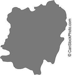 Map - Caras-Severin (Romania) - Map of Caras-Severin, a...