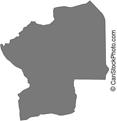 Map - Centrale Togo - Map of Centrale, a province of Togo