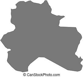 Map - North Khorasan Iran - Map of North Khorasan, a...