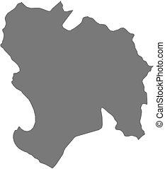Map - Piura Peru - Map of Piura, a province of Peru