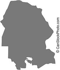 Map - Khuzestan Iran - Map of Khuzestan, a province of Iran...