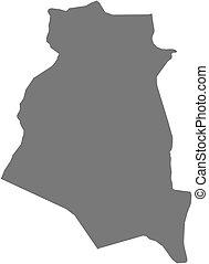 Map - South Khorasan Iran - Map of South Khorasan, a...
