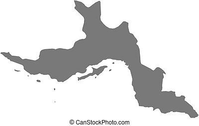 Map - Hormozgan Iran - Map of Hormozgan, a province of Iran...