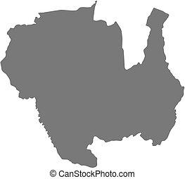 Map - Sipaliwini Suriname - Map of Sipaliwini, a province of...