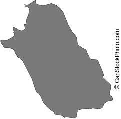 Map - Fars Iran - Map of Fars, a province of Iran