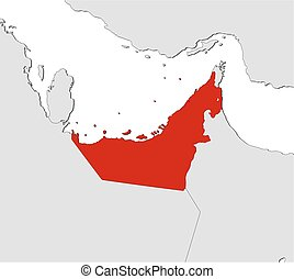 Map - United Arab Emirates - Map of United Arab Emirates and...