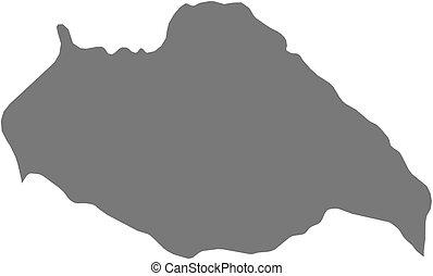 Map - Artigas Uruguay - Map of Artigas, a province of...
