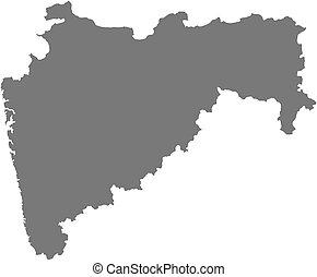 Map - Maharashtra (India) - Map of Maharashtra, a province...