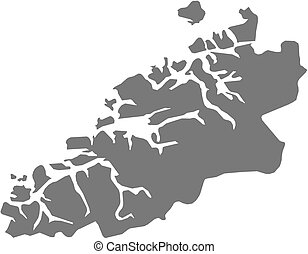 Map - More og Romsdal (Norway)