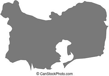 Map - Tulcea Romania - Map of Tulcea, a province of Romania...