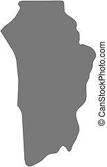 Map - Brokopondo Suriname - Map of Brokopondo, a province of...
