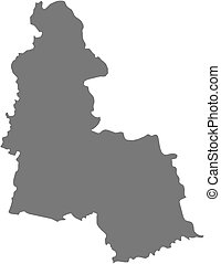 Map - Sumy (Ukraine) - Map of Sumy, a province of Ukraine.