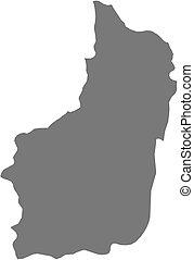 Map - South Rwanda - Map of South, a province of Rwanda