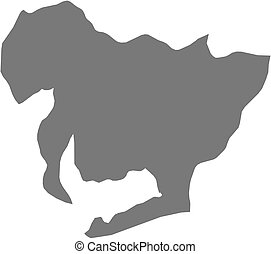 Map - Aichi (Japan) - Map of Aichi, a province of Japan.