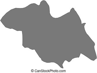 Map - North (Rwanda) - Map of North, a province of Rwanda.