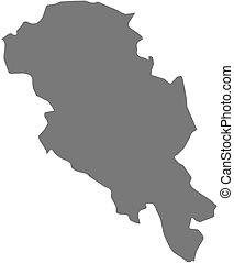 Map - Oppland (Norway)