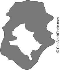 Map - Ilfov Romania - Map of Ilfov, a province of Romania