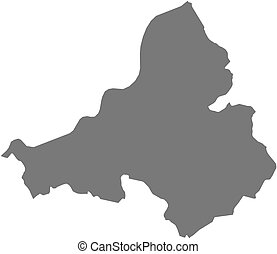 Map - Trencin Slovakia - Map of Trencin, a province of...