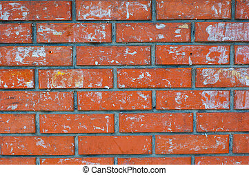 brickwork red brick - abstract background - large section of...