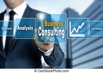 Business Consulting touchscreen concept background
