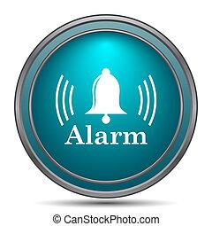 Alarm icon Internet button on white background