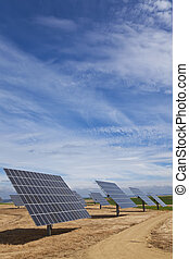 Field of Renewable Energy Photovoltaic Solar Panels