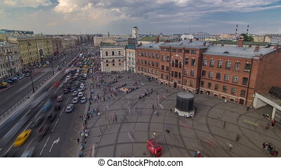 The view from the roof on Ligovsky Prospekt and Moskovsky...