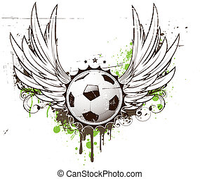 football insignia - illustration of grunge football insignia...