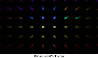 color rectangle matrix disco light